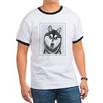 Siberian Husky (Black and White) Ringer T