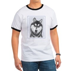 Siberian Husky (Black and White) T