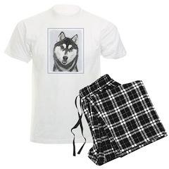 Siberian Husky (Black and Whi Pajamas