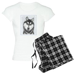Siberian Husky (Black and W Pajamas