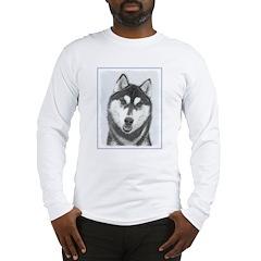 Siberian Husky (Black and Whit Long Sleeve T-Shirt