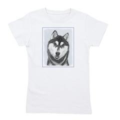Siberian Husky (Black and White) Girl's Tee