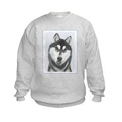 Siberian Husky (Black and White) Sweatshirt