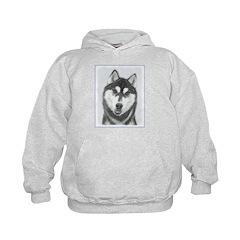 Siberian Husky (Black and White) Hoodie