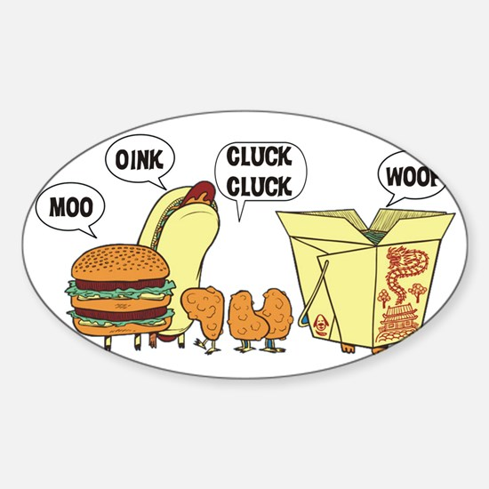 Chinese Cats and Dogs Sticker (Oval)
