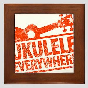 Ukulele Everywhere Framed Tile