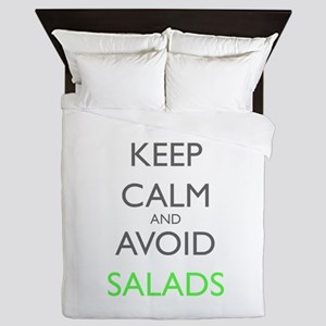 Keep Calm And Avoid Salads Gastropares Queen Duvet