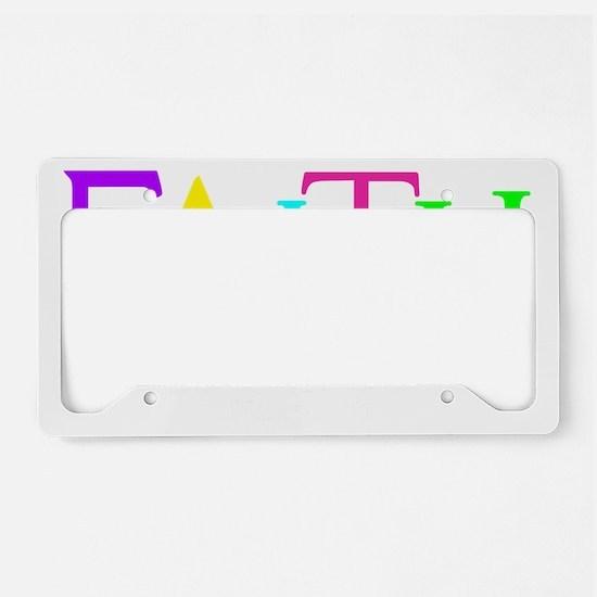 neon multi, Hebrew 11_1 License Plate Holder