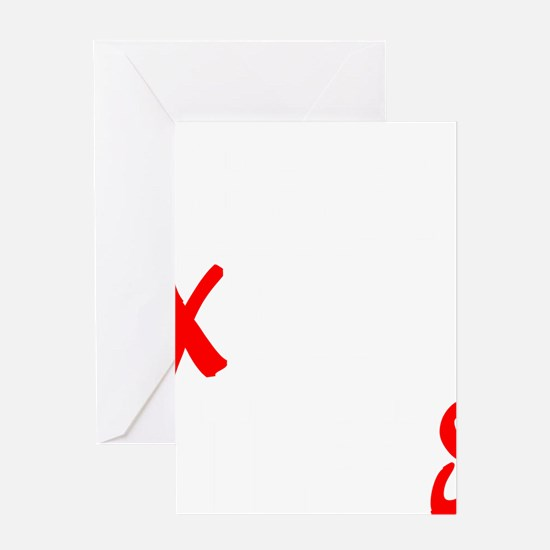 all streets white Greeting Card