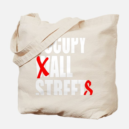 all streets white Tote Bag