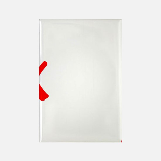 all streets white Rectangle Magnet