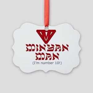 minyan-man2 Picture Ornament