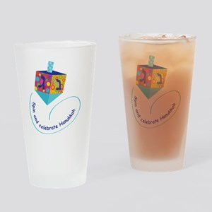 Hanukkah Dreidel Drinking Glass