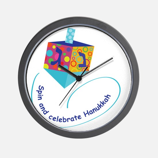 Hanukkah Dreidel Wall Clock
