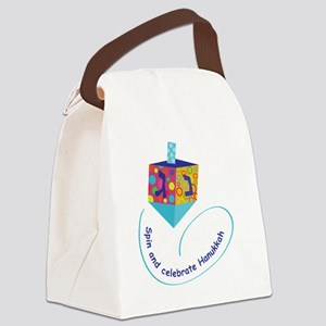 Hanukkah Dreidel Canvas Lunch Bag