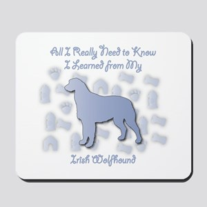 Learned Wolfhound Mousepad
