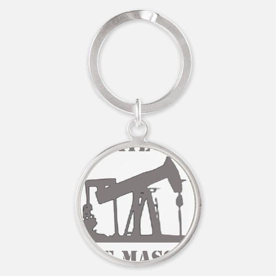 opiate for the masses gray Round Keychain