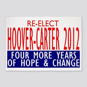 hoover_carter_sign 5'x7'Area Rug