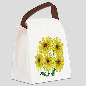 Sunflower Tile Coaster Canvas Lunch Bag