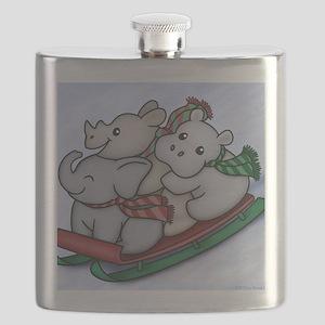 eleph rhino hippo sled Flask
