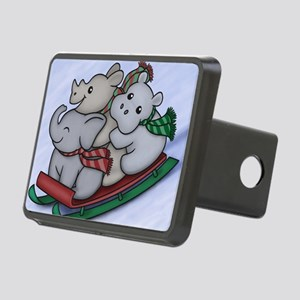eleph rhino hippo sled Rectangular Hitch Cover