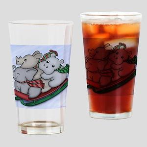 eleph rhino hippo sled Drinking Glass