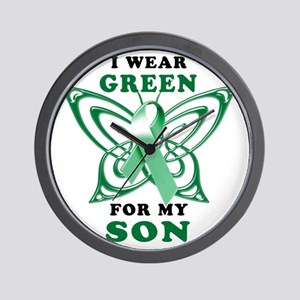 I Wear Green for my Son Wall Clock
