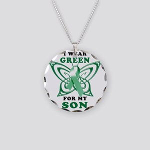 I Wear Green for my Son Necklace Circle Charm