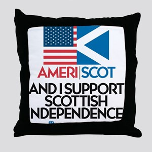 Ameri/Scot Throw Pillow