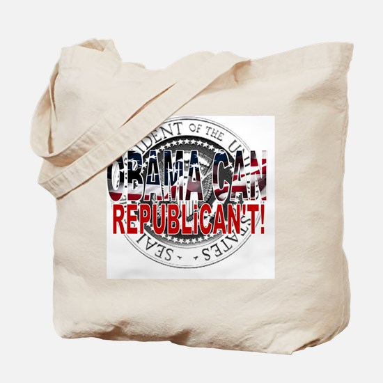 obama CAN Rep cant 2 Tote Bag