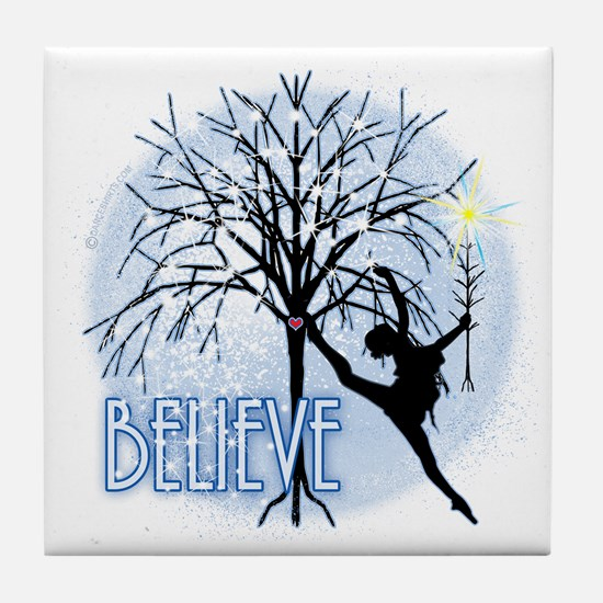 Believe in Dance by DanceShirts.com Tile Coaster