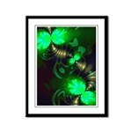 Irish Goblin Emerald Gold Framed Panel Print