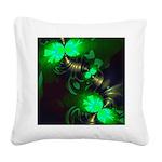 Irish Goblin Emerald Gold Square Canvas Pillow