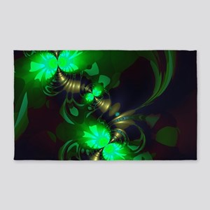 Irish Goblin Emerald Gold Ribbons 3'x5' Area Rug