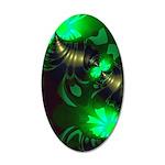 Irish Goblin Emerald Gold 35x21 Oval Wall Decal
