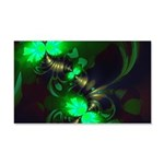 Irish Goblin Emerald Gold Ribbons 20x12 Wall Decal