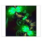 Irish Goblin Emerald Gold Ribbons Small Poster