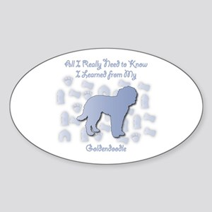 Learned Goldendoodle Oval Sticker