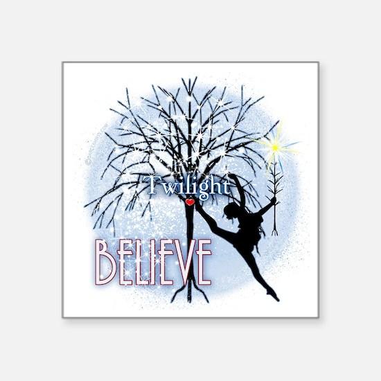 "twilight believe dancer by  Square Sticker 3"" x 3"""