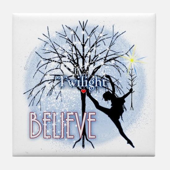 twilight believe dancer by twibaby co Tile Coaster