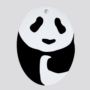 panda Oval Ornament