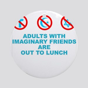 adults with imaginary Round Ornament