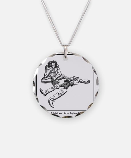 rapture without camping Necklace Circle Charm
