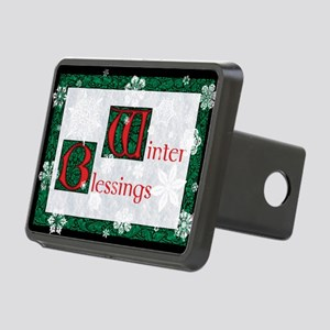 WinterBlessingsGreeting Rectangular Hitch Cover