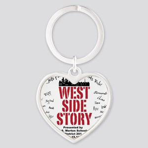 New West Side Heart Keychain