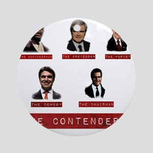 The Contenders onBlack Round Ornament