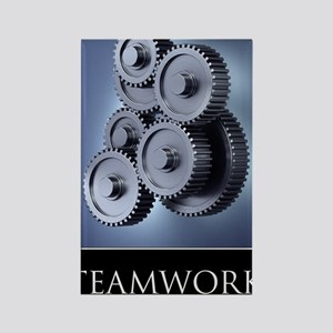 poster_teamwork_01 Rectangle Magnet