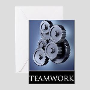 poster_teamwork_01 Greeting Card