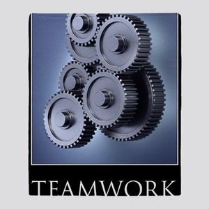 poster_teamwork_01 Throw Blanket