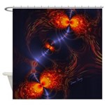 Dance of the Abstract Eyes Shower Curtain